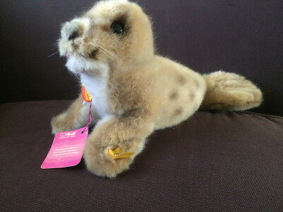 Steiff Robby Seal Complete with Pink Tag 1175/14
