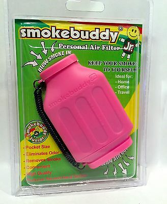 1X Smoke Buddy Junior Jr Personal Air Odor Purifier Cleaner Filter PINK NGB-2302