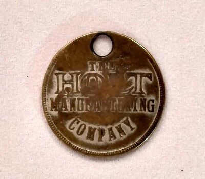 RARE - VINTAGE HOLT MANUFACTURING CO. Caterpillar Employee Tool Badge #1810