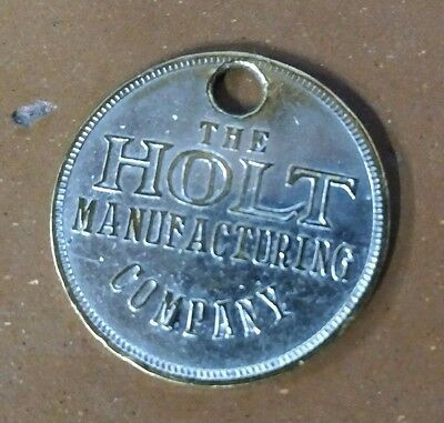 RARE - VINTAGE HOLT MANUFACTURING CO. Caterpillar Employee Tool Badge #2875