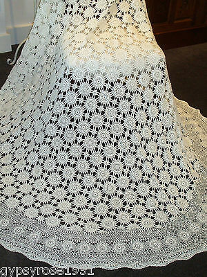 Vintage Crochet Round Tablecloth (Large) (T/B 2)