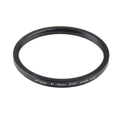 eTone 67-62mm Step Down Metal Adapter 67mm Lens to 62mm Filter Ring Accessory