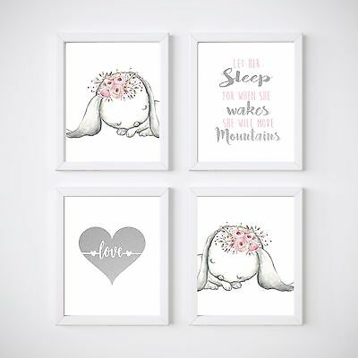 Bunny Nursery Wall Decor Prints, Some Bunny Print, Rabbit prints