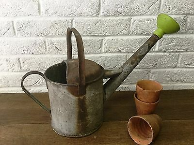 Galvanised Watering Can Small Vintage Old Rustic - Garden Florist Display Prop