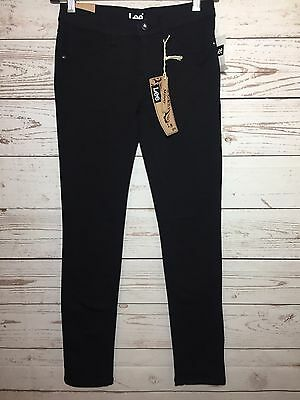 New Lee Girls Black Skinny Stretch Jeans Jeggings Size 12 NWT