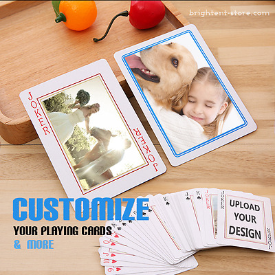 Personalised Playing Cards with own Photo different  to Each Card