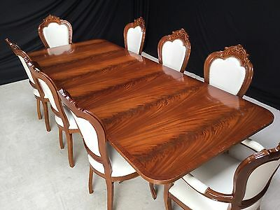 Magnificent Grand Regency Style Flame Mahogany Dining Table Pro French Polished