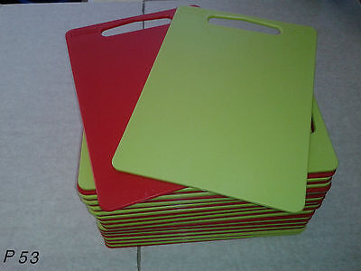 3 x Lime Green Plastic Chopping Cutting Board Catering Cafe - Food Hygiene Safe