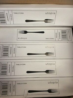 48 x Utopia Table Forks Catering Fork Cafe Restaurant Home Cutlery Cookware
