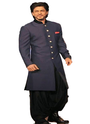 Indian Traditional Wedding Blue Party Men Wear Pakistani Indo Western Suit