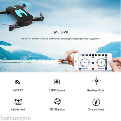 JY018 Foldable RC Pocket Drone BNF WiFi FPV 0.3MP Camera /G-sensor/Headless Mode