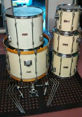 Yamaha Recording Custom 9000 series 5 Piece Drum Kit - piano lacquer off-white
