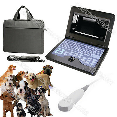 New Veterinary Laptop Ultrasound Scanner Machine+5.0Mhz Micro Convex Dog/Cat/Pet