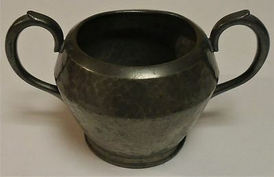 Antique Don Pewter Hammered Metal Small Bowl