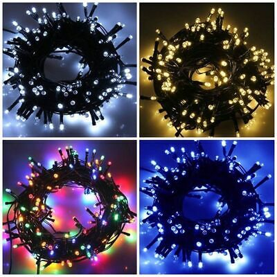 100 200 500 LED Solar Power Fairy Lights String Garden Outdoor Party Xmas Decor