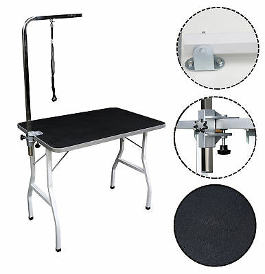 "Lovupet 36"" Large Pet Grooming Foldable Table Dog Cat Adjustable ARM Noose Groom"