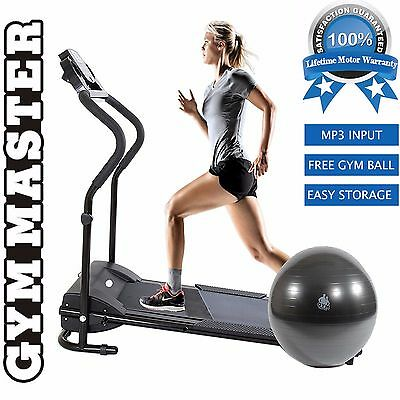 GYM MASTER Electric Treadmill Motorised Folding Running Machine Fixed Incline