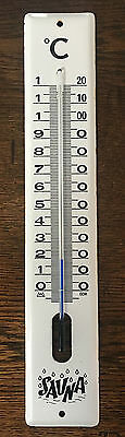 Antik Sauna Thermometer Emaille DDR Made in GDR altes Thermometer