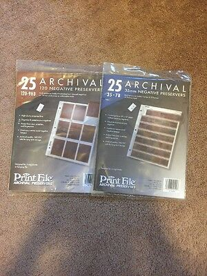 New In Package Print File Archival Preservers 120 And 35mm