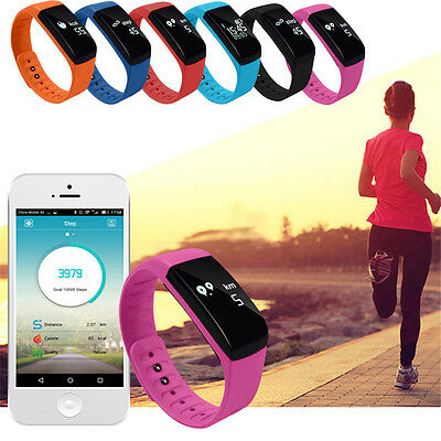 Waterproof Bluetooth Smart Bracelet Watch Fitness Activity Tracker Mate Android