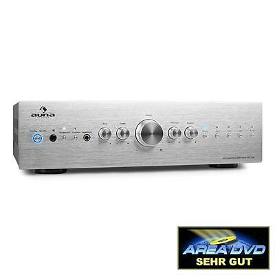 New Hi-Fi Home Stereo Amplifier Sound System 600 Watt Receiver Amp Silver