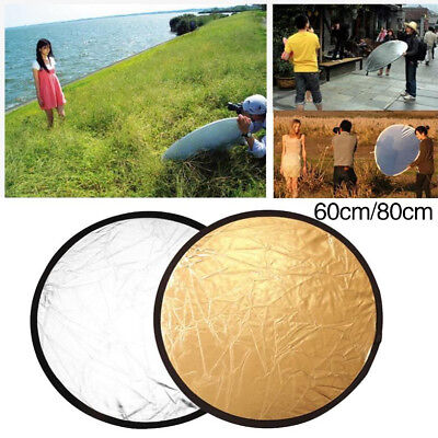60cm 2-In-1 Studio Light Photo Collapsible Reflect Photography Reflector