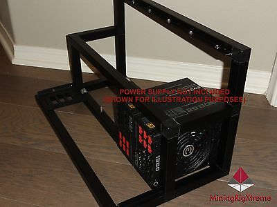 6 GPU Mining Rig Open Air Frame PC Case LTC Bitcoin BTC Dash ZCash ZEC DBIX XMR