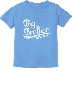 Big Brother EST. 2017 Toddler/Infant Kids T-Shirt Boys Baby Announcement 3T