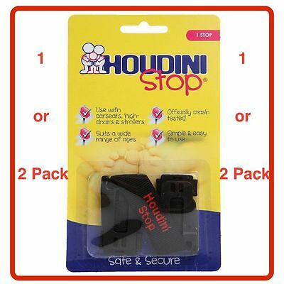 ❤ GENUINE HOUDINI STOP BABY CAR SEAT SAFETY CHEST STRAP STOP CHILD 1 or 2 Pack ❤