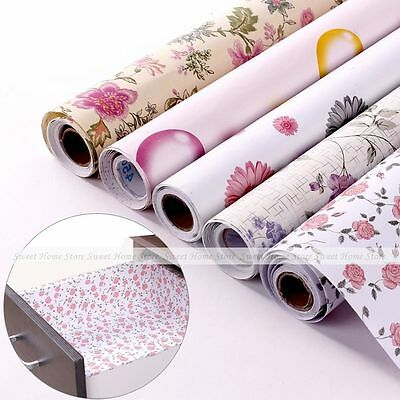 Self-adhesive Contact Paper Moisture Proof Shelf Drawer Liner Decor Wallpaper