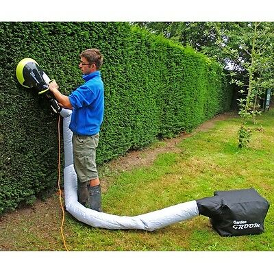 Garden Hedge Trimmer 500W Electric Corded Pro Cutter Powerful Collecting Bag