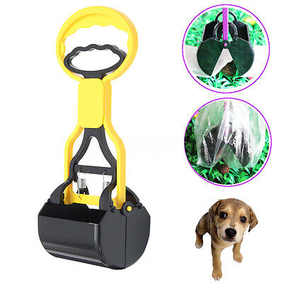 Pet Dog Waste Easy Pickup Jaw Pooper Scooper Poo Poop Scoop Grabber Bag Holder