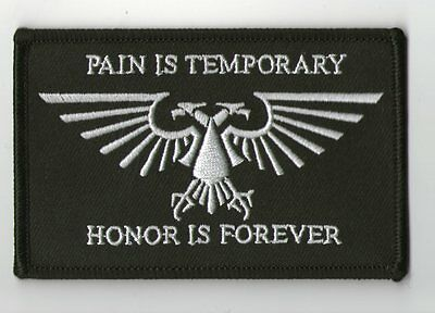 Parche Warhammer 40K Ultramarines Pain Is Temporary Honor Is Forever 10X6 Patch