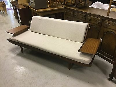 Vintage 1960's Afromosia Danish Teak Sofa/ Day Bed made by Toothill