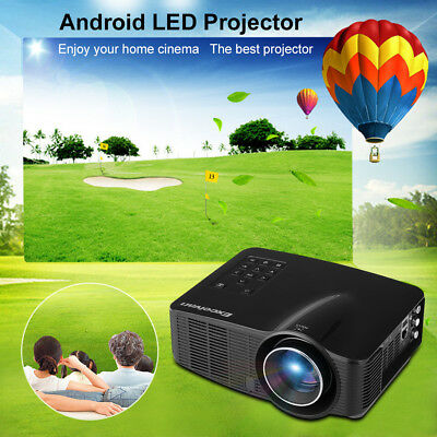 Wifi Android LED Vidéoprojecteur 1500Lumen 1080P Multimedia 3D AV/HDMI/SD/USB FR