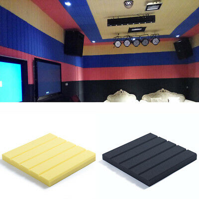 30 * 30CM Acoustic Wall Panels PVC Sound-Proof Deadening Foam Stripes Pads Tiles