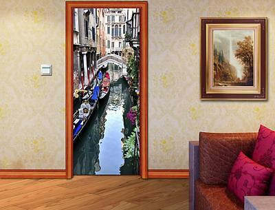Venice Canal Sunset Landscape Smashed Wall Sticker Decal Home Art Mural J333