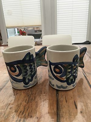 Victoire & Owsley fish mugs (Louisville Stoneware)