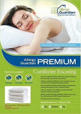 SINGLE QUILT Encasing Patented Pristine Fabric - Anti Dust Mite & Bed Bug Cover