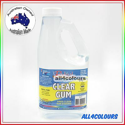 1L OZ Made NON TOXIC CLEAR GUM Water Based adhesive for SLIME Non Staining