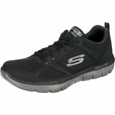 SKECHERS FLEX ADVANTAGE Herren Sneakers Turnschuhe 52124 Blk IVAgn