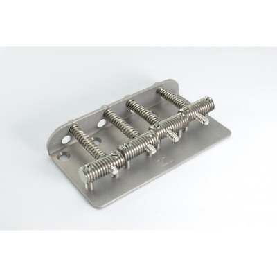 KTS Titanium Vintage Style Bass Bridge - threaded Titanium saddles