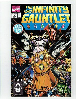 INFINITY GAUNTLET, WAR, CRUSADE and ABYSS 1, 2, 3, 4, 5, 6 complete 24 comics NM