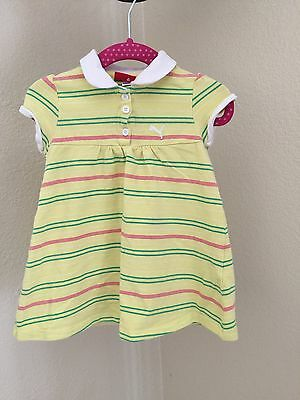 H-Toddler Girls Yellow Striped  dress Size 18 months by Puma