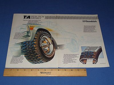 1983 Bf Goodrich 2 Page Tire Print Ad | With Clear Bag & Backboard! | #10