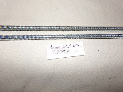 threaded bar 8 mm x  59cm approx x 2  (new)
