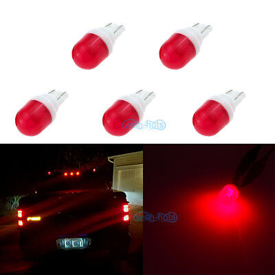 5Pcs Red Clearance Cab Marker Roof Light Ceramics LED Bulbs For Hummer H2 03-09
