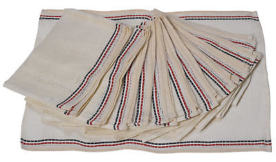 """Cream Linen Dishcloth Pack of 12 Kitchen Dish Washing Cleaning Cloths 15"""" x 21"""""""