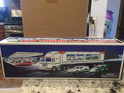Hess 1997 Truck With Racer, Nib