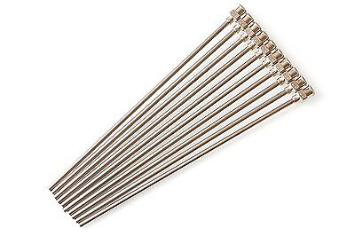 "10 Pack - Dispensing Needle 12G x 5"" - Blunt Tip, Luer Lock, All Metal Stainless"